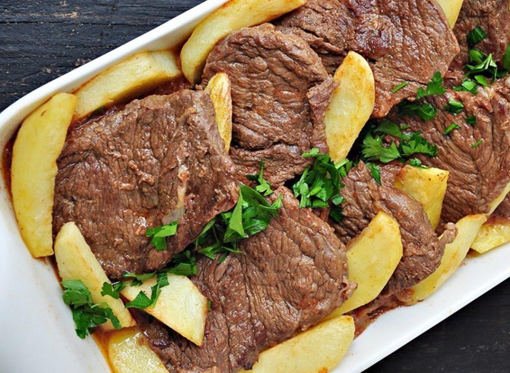 Izgara Biftek + Fırında Patetes + Biber